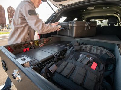 1 Drawer magnum TruckVault with tactical gear.